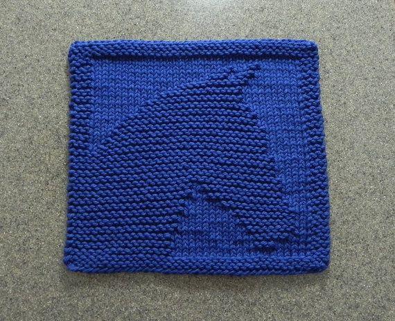 Knit Dishcloth Pattern Horse : Knitted HORSE Wash Cloth or Knit Dishcloth by AuntSusansCloset Knitting Fav...