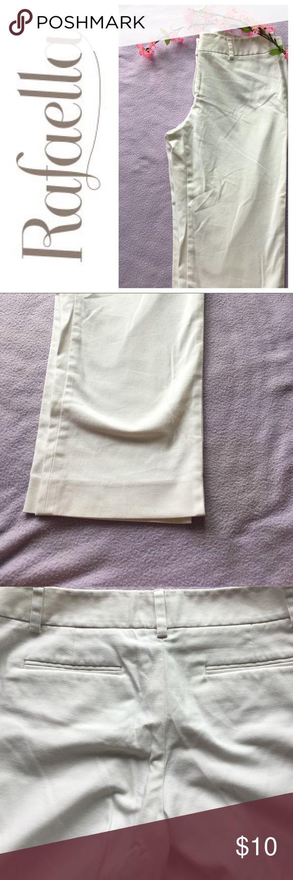 Rafaella white Capris Rafaella white dress pant type capris size 10 good condition Rafaella Pants Capris