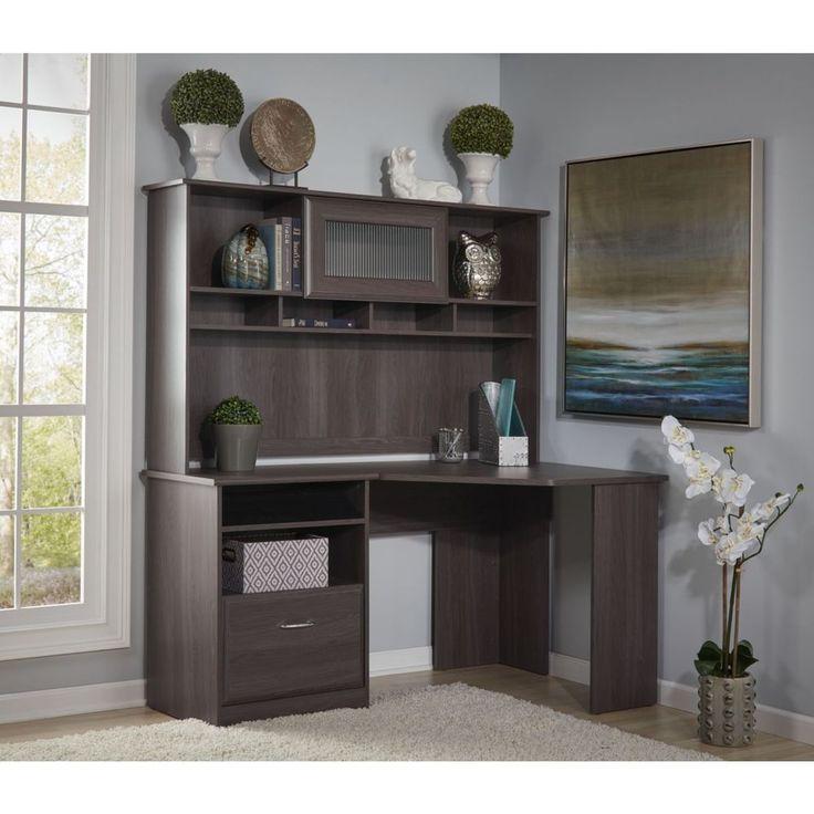 best 25 corner desk with hutch ideas on pinterest white desks desks ikea and white corner desk. Black Bedroom Furniture Sets. Home Design Ideas