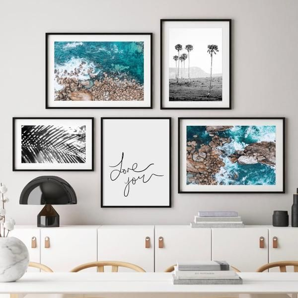 Home Decor Home Decor Bedroom Teenager Shabby Chic Art Gallery Wall Gallery Wall Modern Beach Art