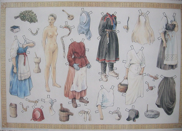 Paper doll Aino  Aino is a character from Finnish national epos Kalevala.  Comments and faves