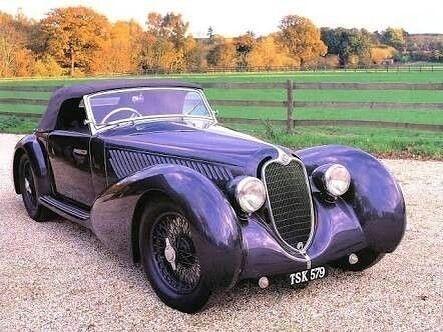 Achaldan Alfa Romeo Convertible 1937 Vintage Car Oldtimer