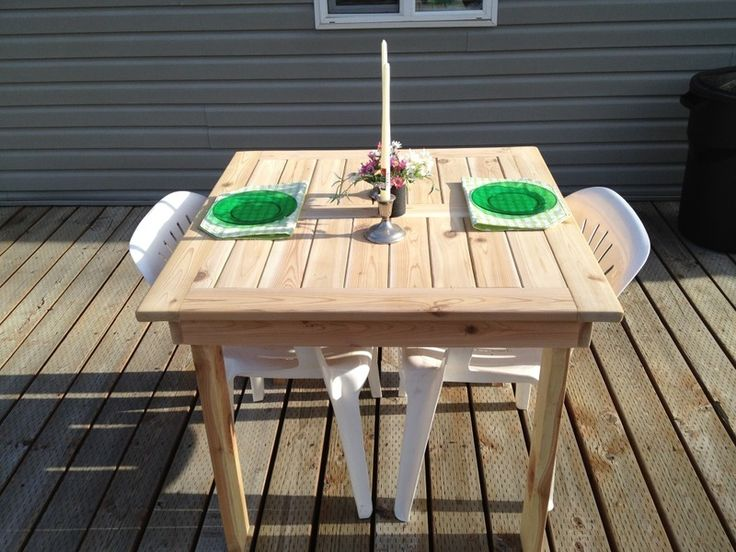 DIY Patio Table Plans | Modified Outdoor Dining Table | Do It Yourself Home  Projects From