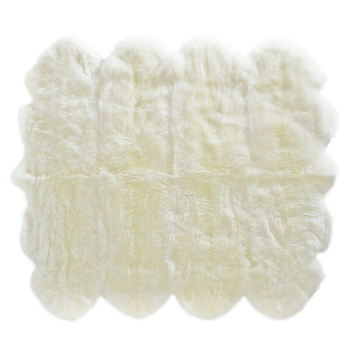 http://www.classicsheepskins.co.nz/sheepskin-rugs/  8 sheepskin rugs matched beautifully