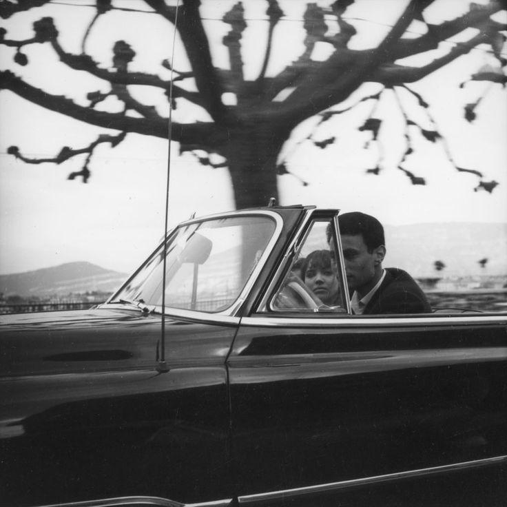 LE PETIT SOLDAT Karina et Subor dans le film de Godard, tourné  à Genève.