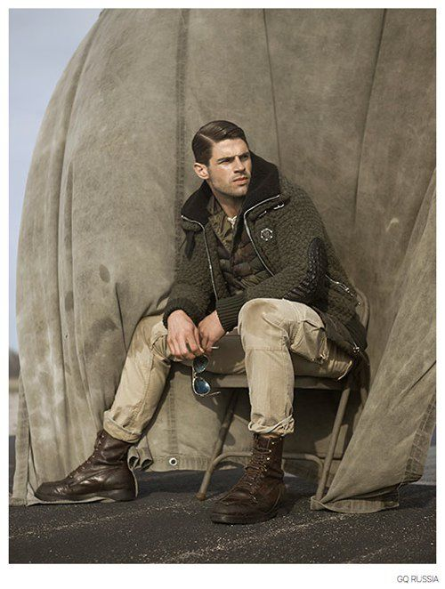 Chad White & Florian Van Bael Model Military Inspired Fall Fashions for GQ Russia