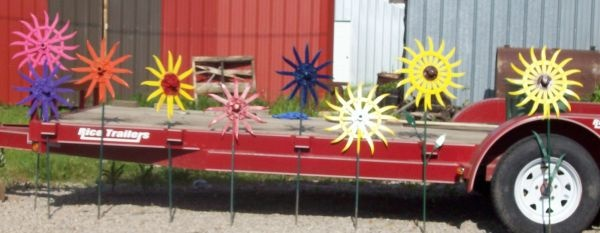 Rotary Hoe Flowers Yard Art Pinterest Flower