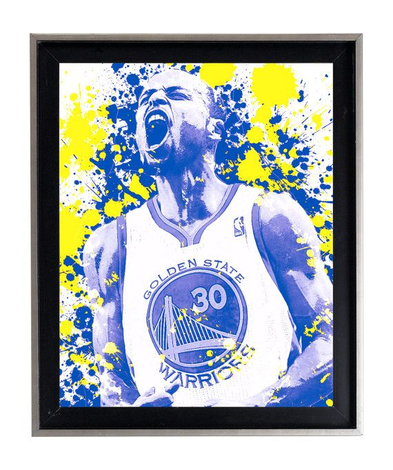 Watercolor Stephen Curry RAGE SPLATTER Art Print by AmorImprimo