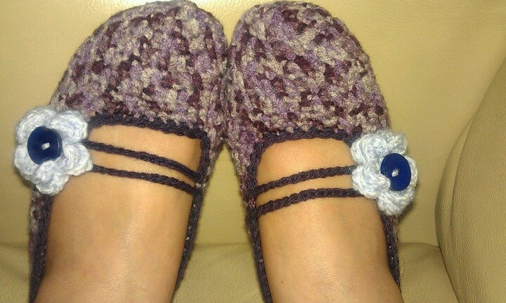 My first crochet slippers