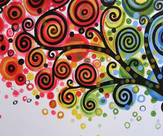 Wall Rainbow Amy Giacomrlli Painting Original by AmyGiacomelli