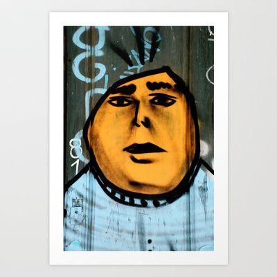 Orange head Art Print by Plasmodi - $16.00