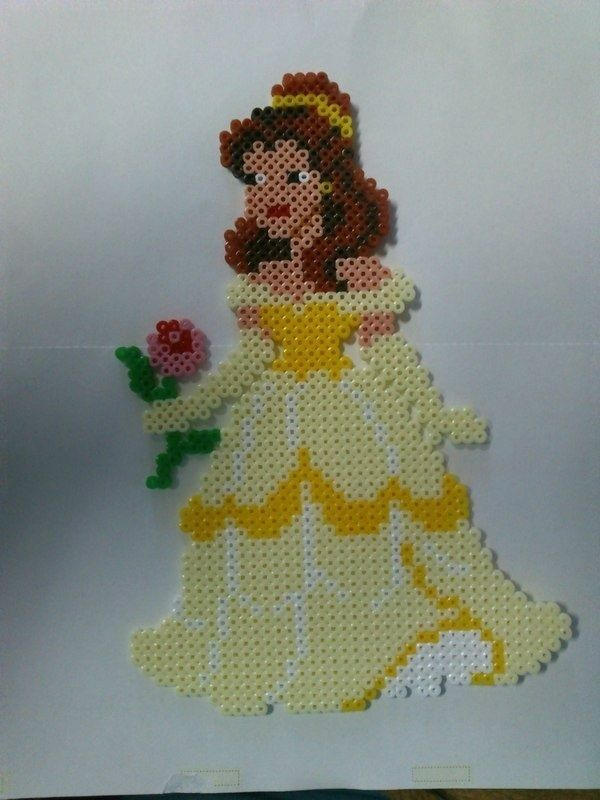 Disney Belle hama perler beads