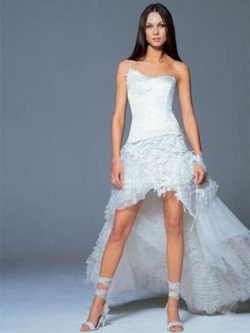 robe de mariee courte devant  Robe de mariée courte devant ...