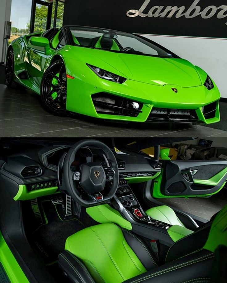 Future Car, Lamborghini, Neon Green
