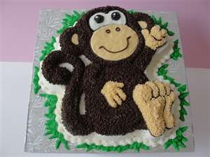 Party Cat Pastries- Monkey cakes.  Looking for ideas for Pace's 1st birthday.
