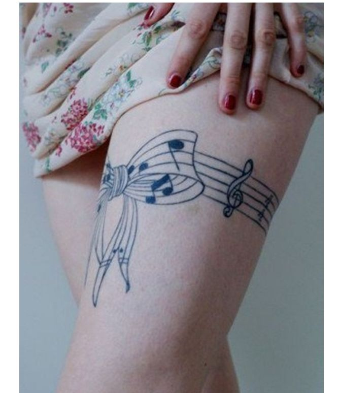 Tattoos Tattoo Designs Piercings: 21 Music Tattoo Ideas For Women