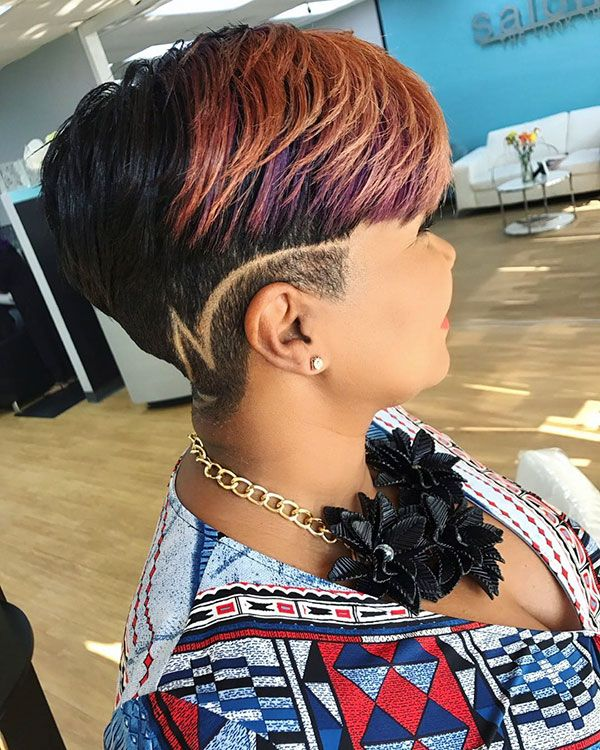 50 Short Haircuts For Black Women In 2020 Shaved Side Hairstyles Braids With Shaved Sides Trendy Short Hair Styles
