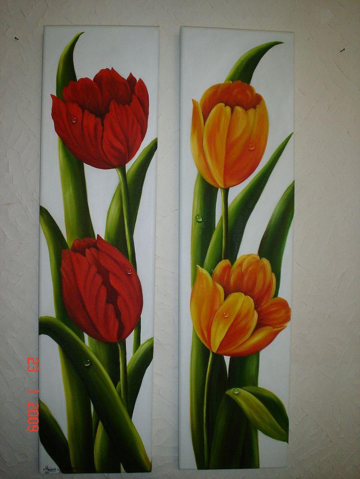 Vendido In 2020 Tulip Painting Flower Art Painting
