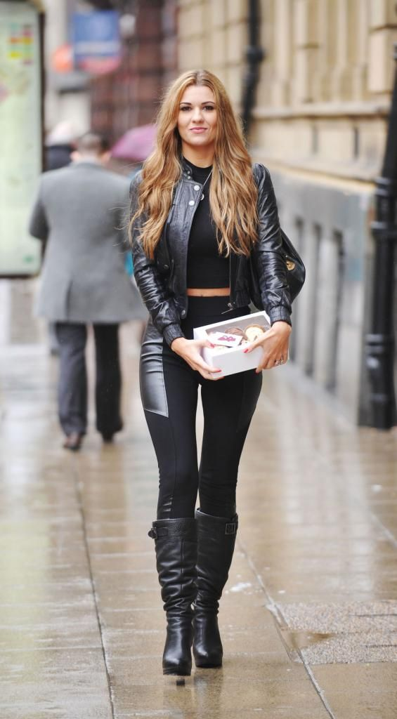 Christine #Martin ] ★ #Leather ★ shopping candids ...