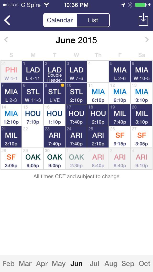 June Rockies Schedule !