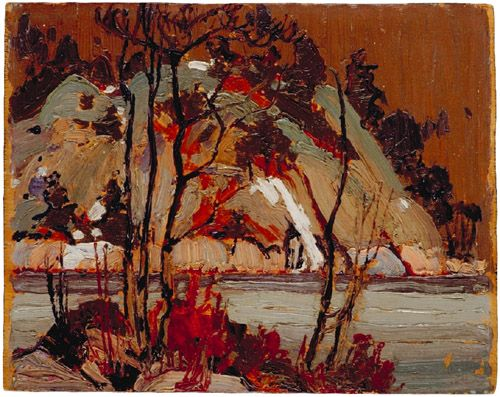 Tom Thomson Catalogue Raisonné | Early Spring in Cauchon Lake, Spring 1916 (1916.57) | Catalogue entry