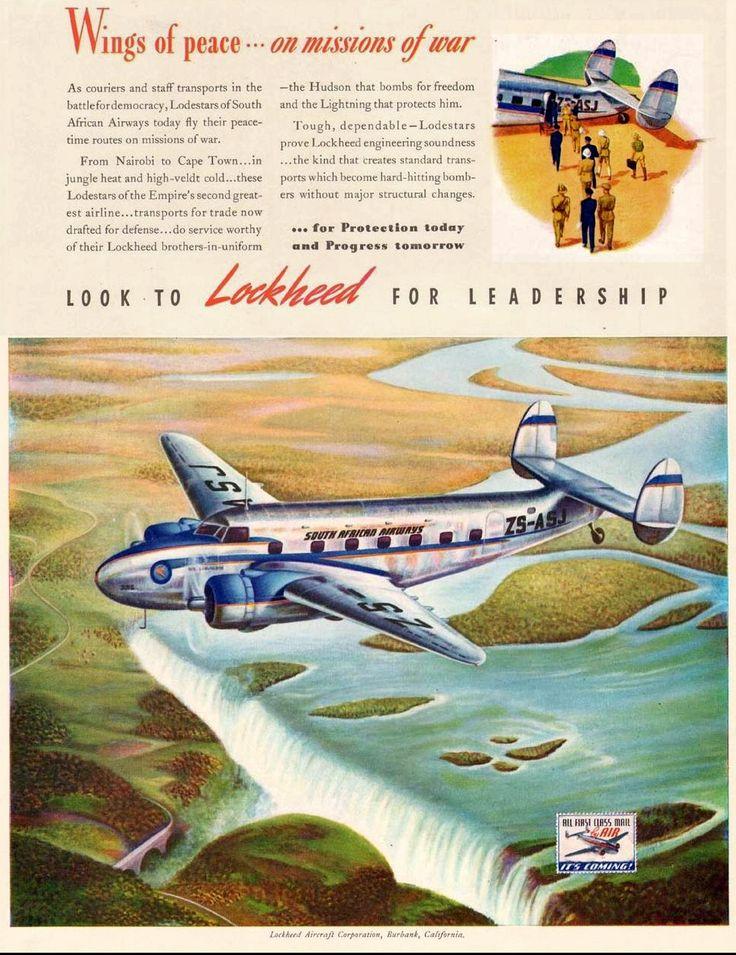 A South African Airways Lockheed Lodestar circa 1940