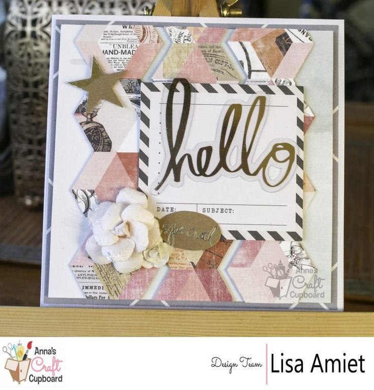 Heidi Swapp's stunning Magnolia Jane collection with it's floral and gold features, represents all things elegant.  Lisa Amiet recently got creative with the range and here we present one of the beautiful cards she created titled 'Hello' … all the gorgeous details are over on Anna's blog now!