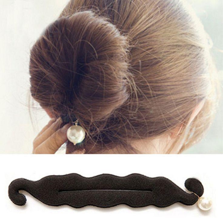 24 cm wsuwka do włosów ozdoby do włosów akcesoria kobiety magiczna gąbka z pianki diy pearl włosów bun roller dla fs2060 nakrycia głowy