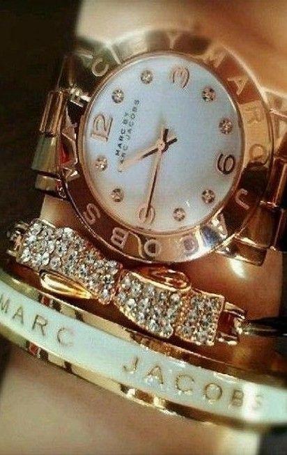 Marc Jacobs Gold Watch - MBM3056 - http://SavvyWatch.com     http://stylewarez.com