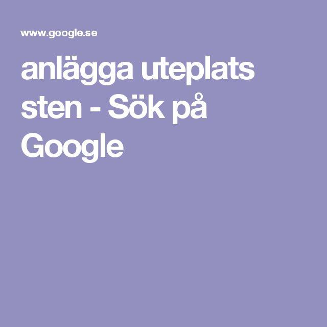anlägga uteplats sten - Sök på Google