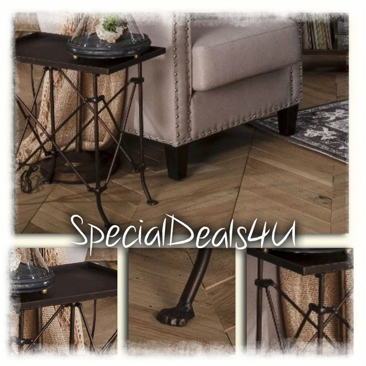 Bistro End Table Side Metal Living Room Rustic Vintage Accent Home Iron Coffee T #SpecialDeals4U #BistroRusticModern