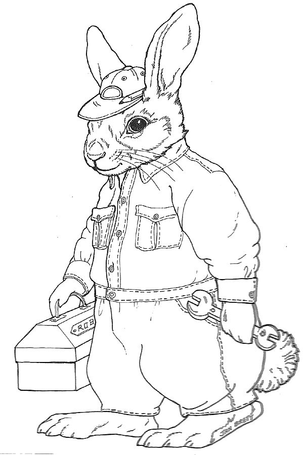96 Coloring Pages For Adults Bunny