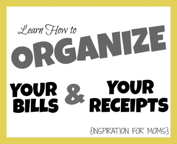 Learn a quick way to keep all your bills and receipts organized | www.inspirationfo... #organizereceipts #organize