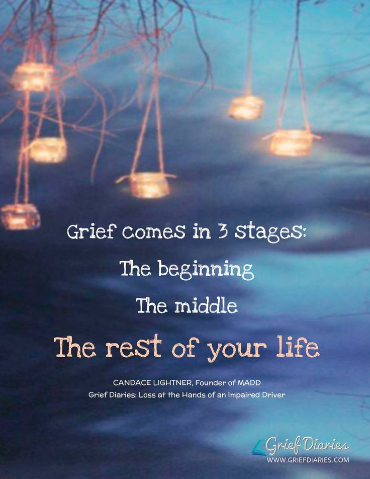 Stages of Grief - Truth. You never get over losing someone you love, you just get better at dealing with the pain.