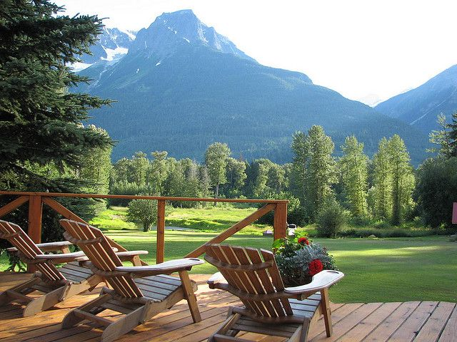 by Tourism BC on Flickr.  Relaxing spot in Bella Coola Valley, British Columbia, Canada.