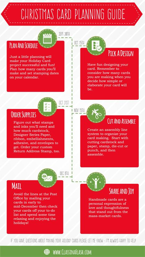 Christmas Card Planning Guide by Class in a Flash