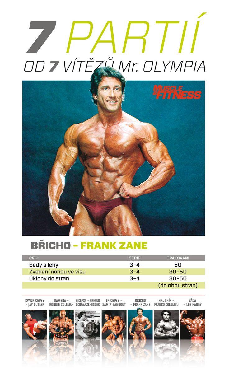 7 partií od 7 víťazov Mr. Olympia - brucho ako Frank Zane.