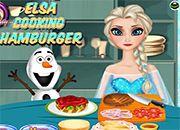 Elsa Cooking Hamburguer | juegos de cocina - jugar online