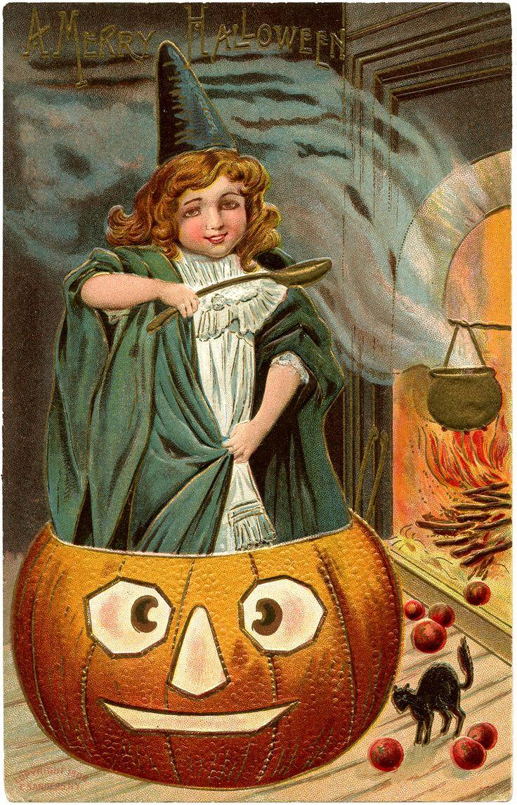 vintage halloween graphics, vintage halloween witch download! - the