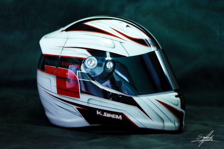 Kasia Brem karting helmet