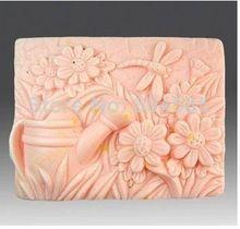Nieuwe Schoonheid Landelijk planten Craft Art Siliconen Zeep schimmel Craft Mallen DIY Handgemaakte zeep mallen(China)