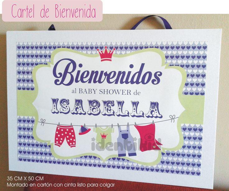 Identikid,, Baby Shower - Stickers, emboltorios para golosinas- Cartel de…