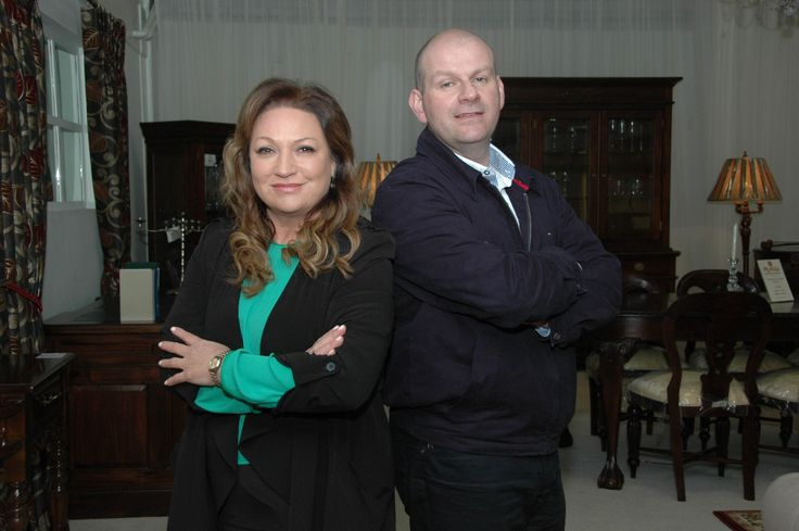 Presenter Norah Casey and the boss of McNulty's Furniture