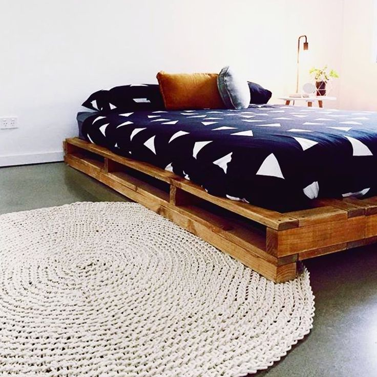 Made by Lucy custom crochet round rug. Perfect for a modern styled home, adding that touch of texture