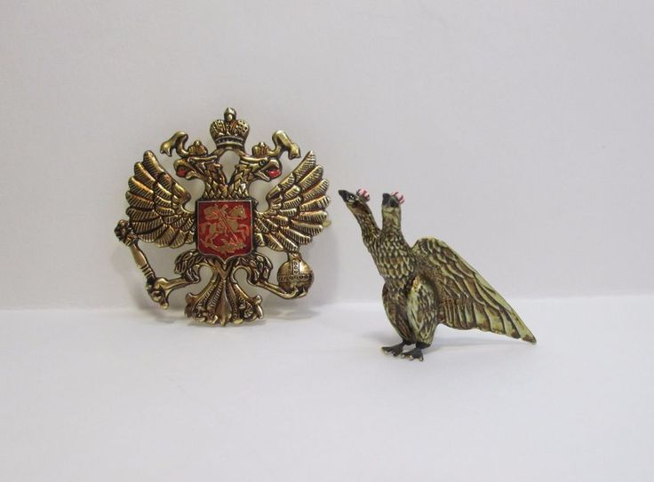 Russian Imperial double-headed eagle 2 pieces. Icon 50 x 50 mm + 50 mm eagle