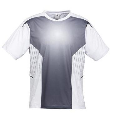 SONIC TEE  *Price includes 1 color, 1 location screen print  *2 Color imprint available for an additional charge  PRINTED WITH YOUR TEAM LOGO, NAMES AND NUMBERS!  DETAILS  1.BIZ COOL™ 100% Breathable Polyester  2.New stretch sports interlock fabric  3.Sublimated tonal front panel  4.Contrast piping insert detail