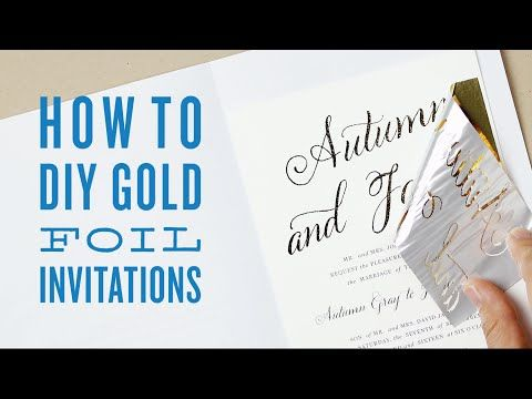 How to DIY foil wedding invitations | DIY Gold foil printing – Swell & Grand