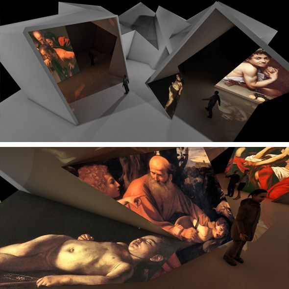 Installation with projections to show the work of Caravaggio in a new and surprising form.