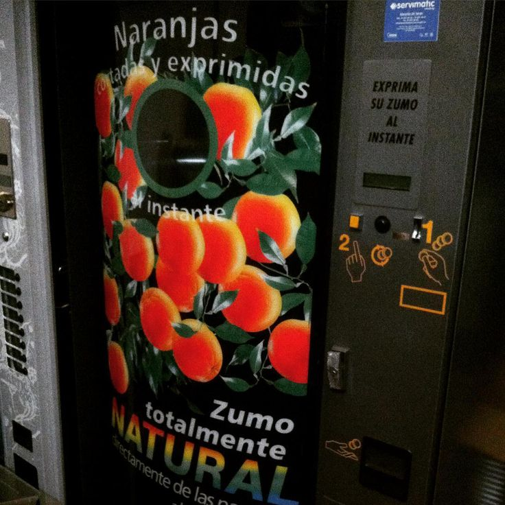 #MáquinaExpendedora #vending #zumo 100% #natural recién exprimido   Fresh Orange Juice Vending Machine