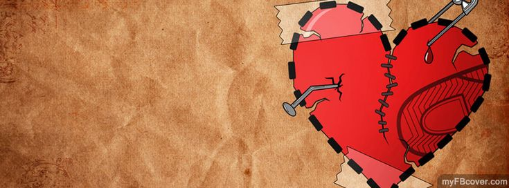 Broken Heart FB Cover from myFBcover.com
